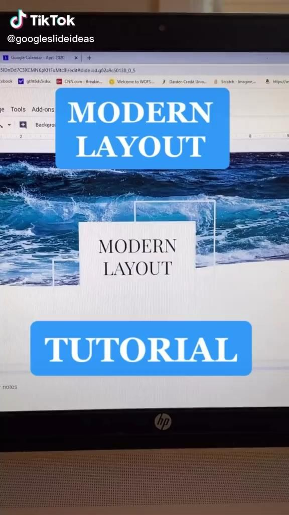 Modern Layout Tutorial Video In 2020 Technology Lessons Life Hacks For School School Hacks