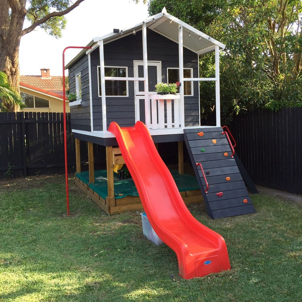 playhouse child friendly interior surfaces | How to design a family friendly garden | Play houses, Kids ...