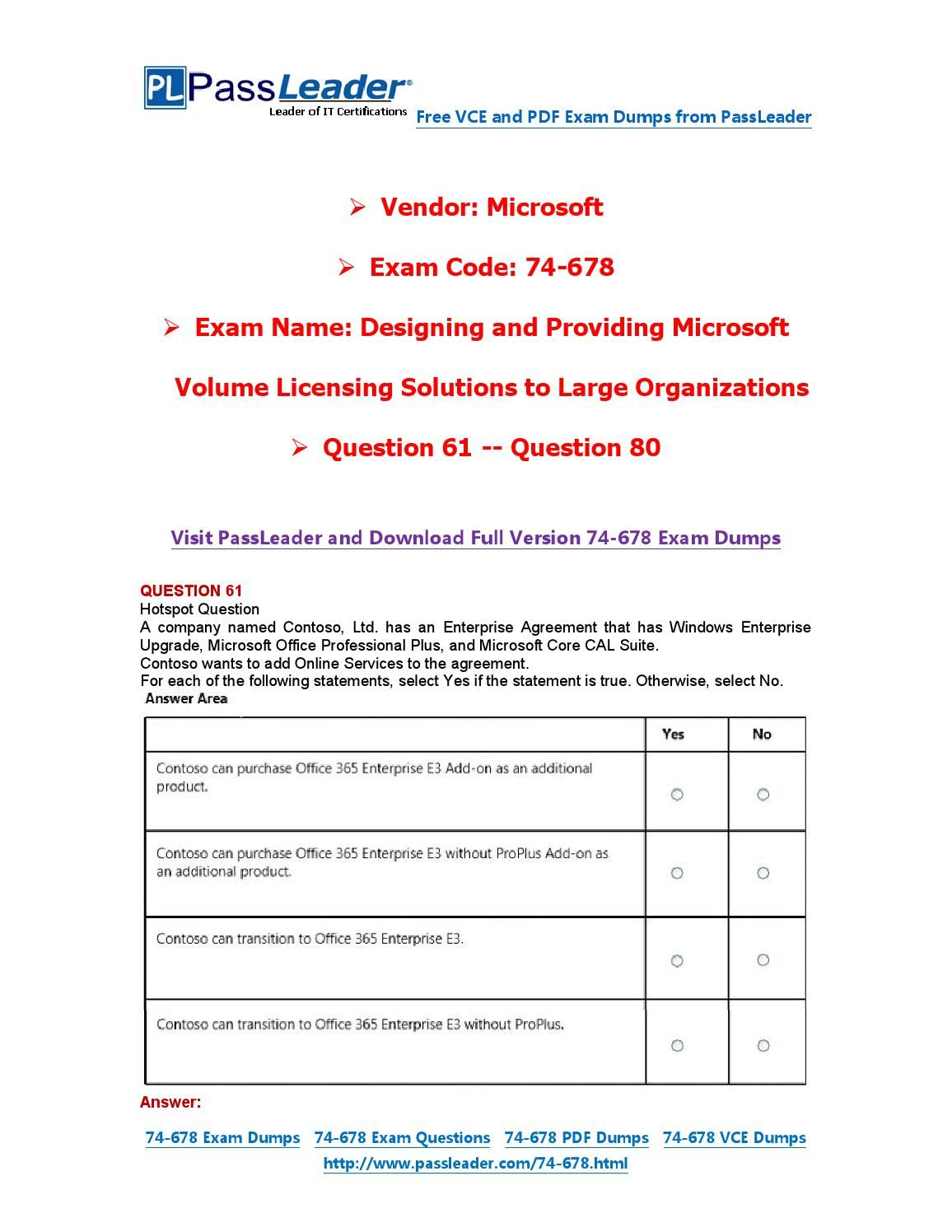 74 678 Exam Dumps With Pdf And Vce Download 61 80 74 678 Exam