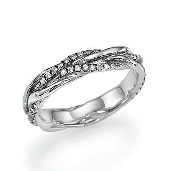 0 35 Carat Twisted Vines Vintage Diamond Wedding Ring Band Shiree Odiz Ebay Diamond Wedding Bands Wedding Ring Bands