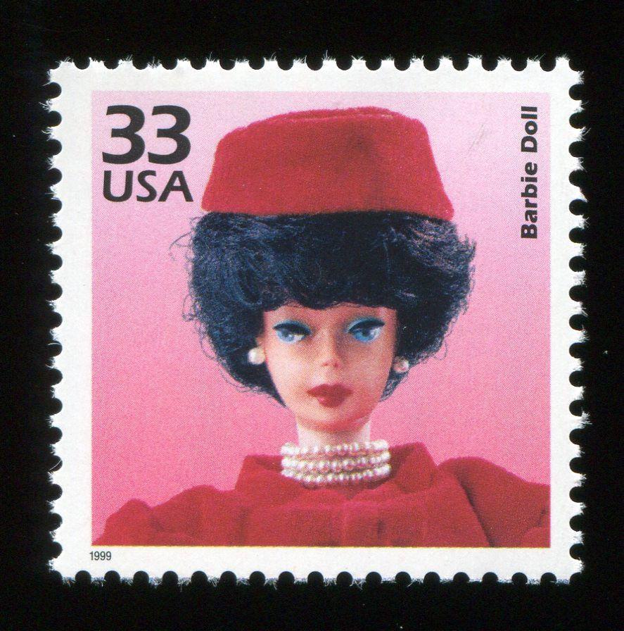 """(1999) 33¢ """"Barbie Doll"""" nice unused stamp"""