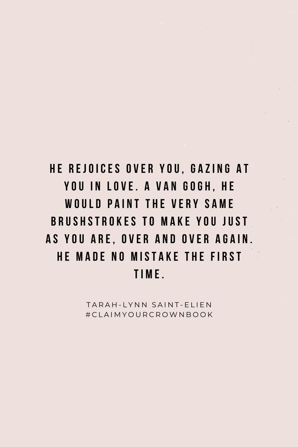 Jesus made no mistake with you