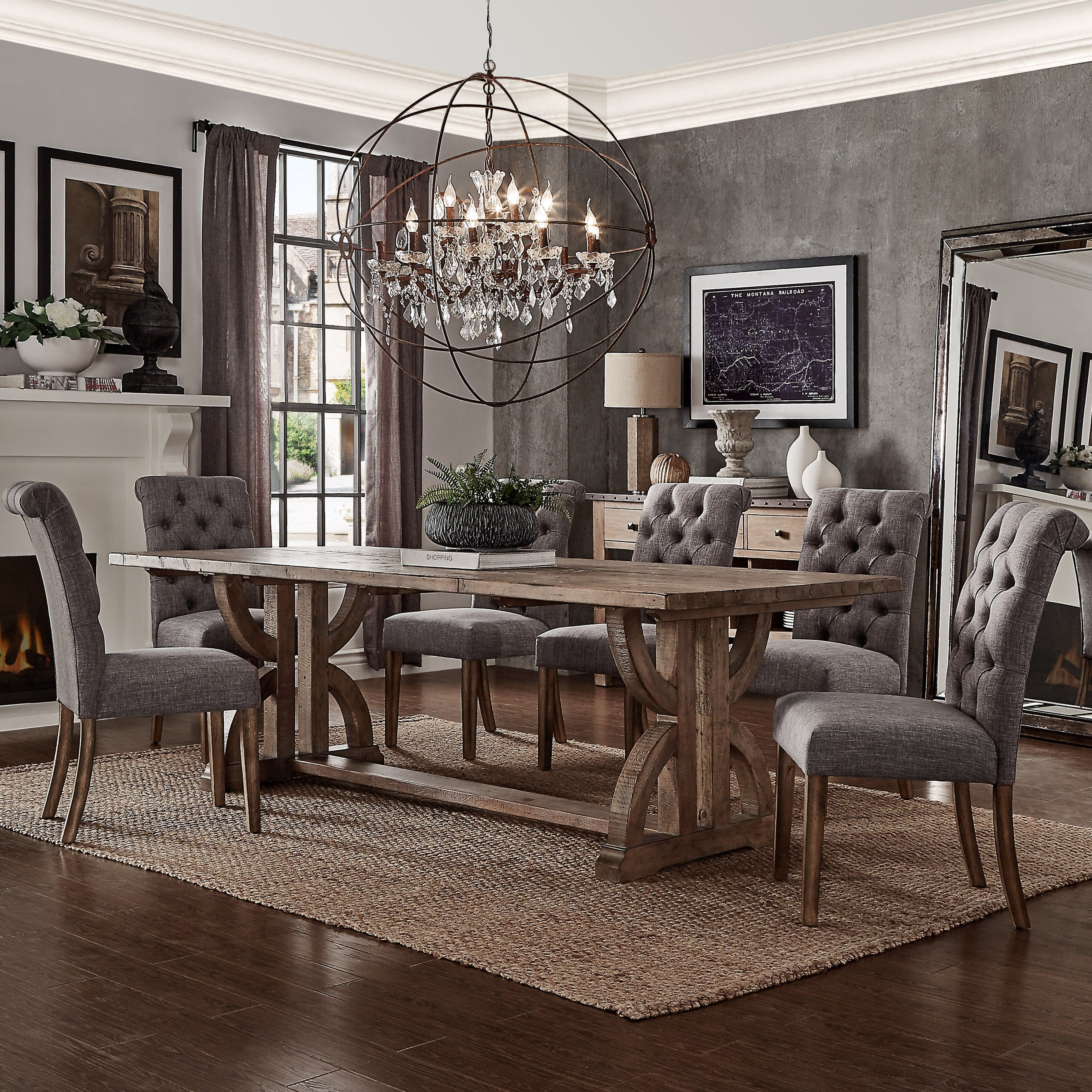 Benchwright Premium Tufted Rolled Back Parsons Chairs (Set of 2) by iNSPIRE  Q Artisan (Brown Bonded Leather). Parsons ChairsFarmhouse TableDining ...