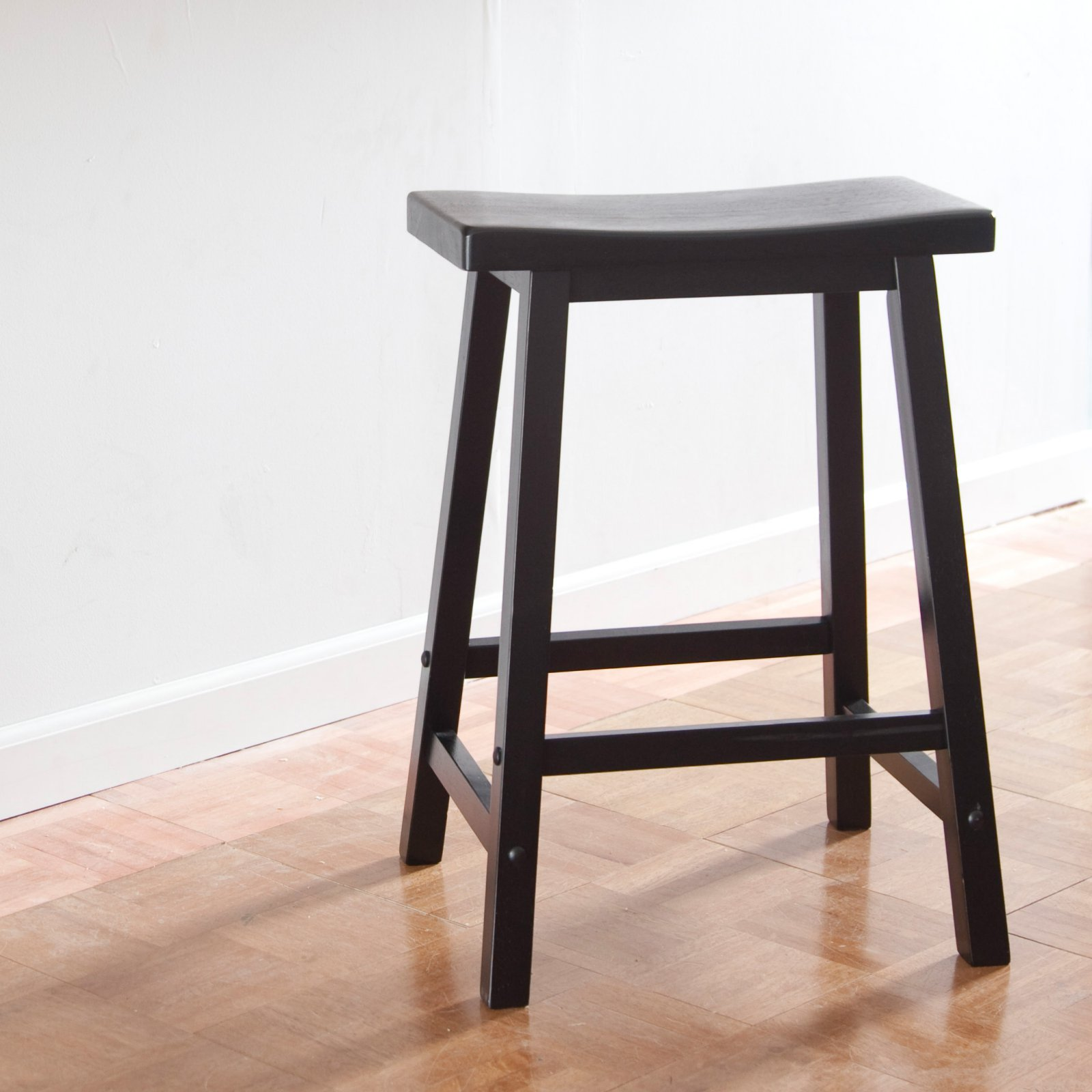 Winsome Wood 24 Inch Rta Single Saddle Seat Counter Stool