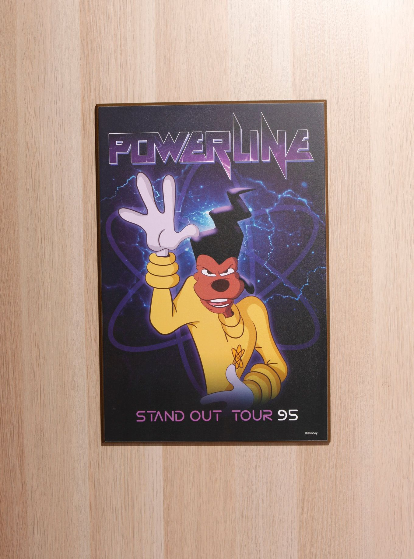0827ff3054 Wood wall art from Disney s A Goofy Movie with a Powerline poster style  design that reads