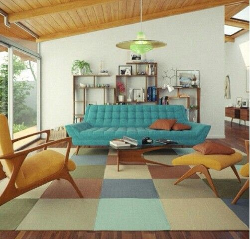 Gplan 50s living room living room in 2019 mid century - 1950 s living room decorating ideas ...