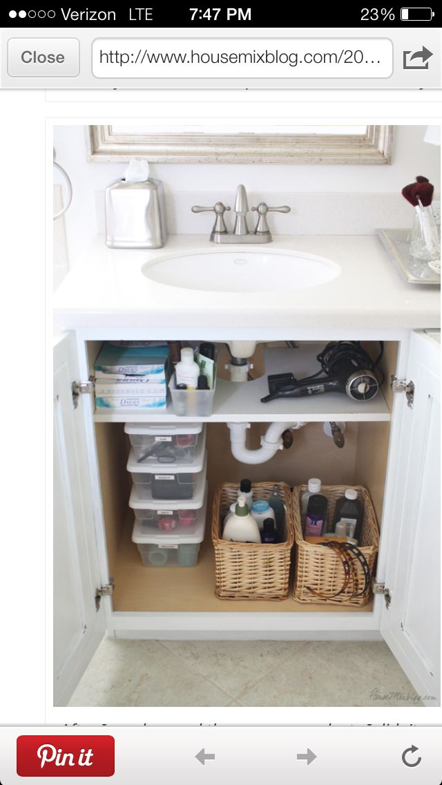 Bathroom vanity storage | DIY Orden en la cocina | Pinterest | Baño ...