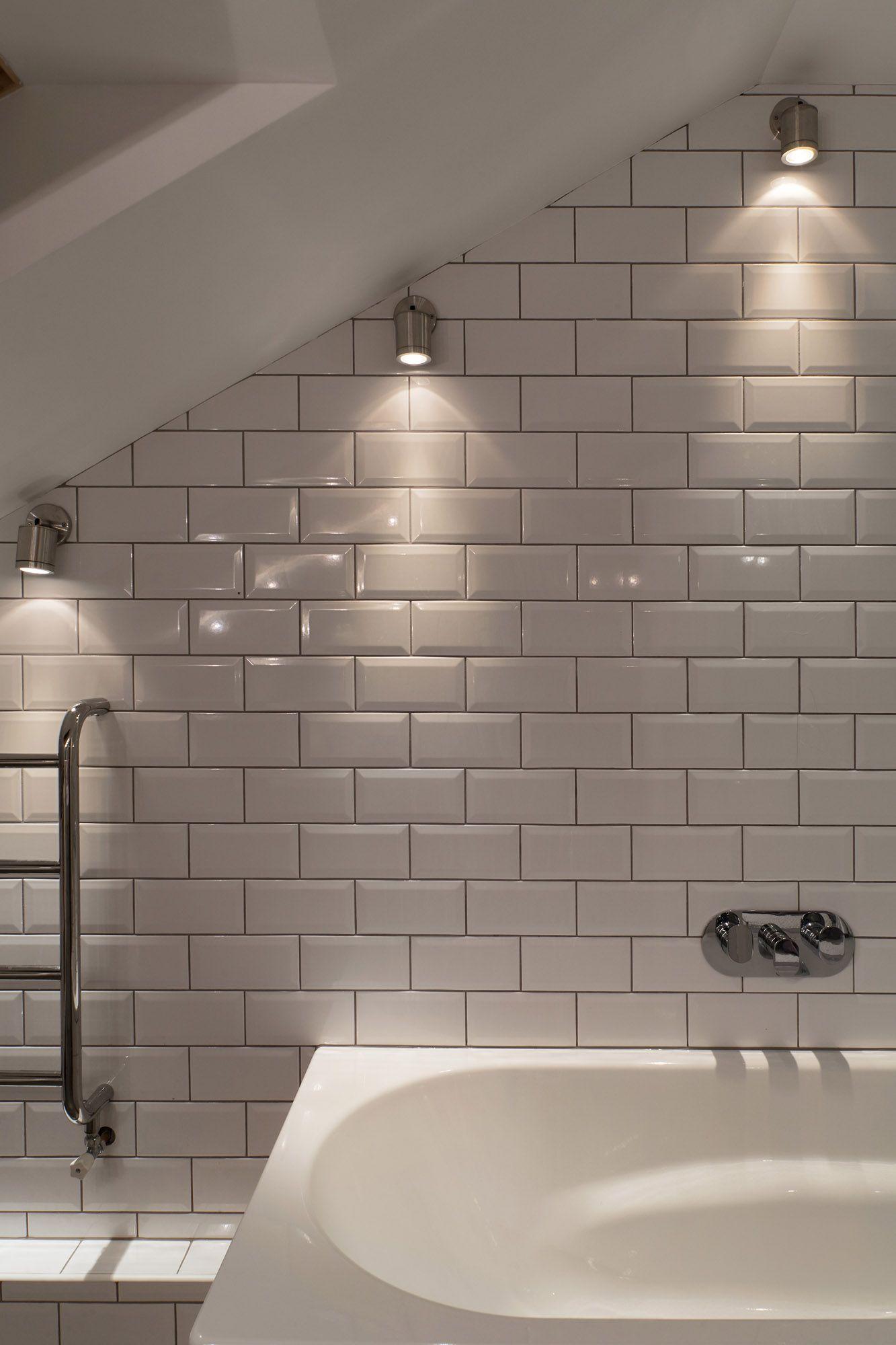 Directional Spots For Under Eaves Over Shower Sloped Ceiling