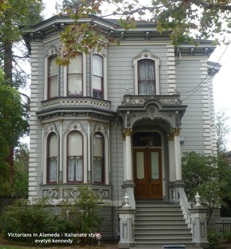 Victorians in Alameda  Italianate Style  Houses