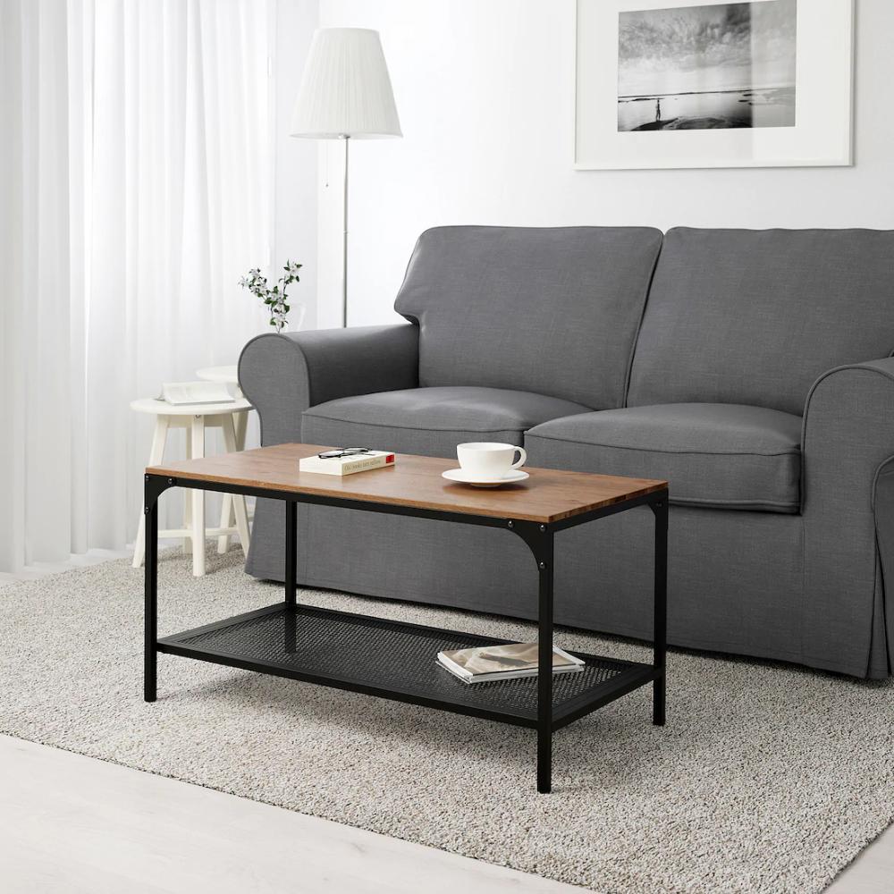Fjallbo Stolik Czarny 90x46 Cm Sprawdz Szczegoly Produktu Ikea In 2020 Coffee Table Small Living Rooms Solid Wood Coffee Table [ 1000 x 1000 Pixel ]