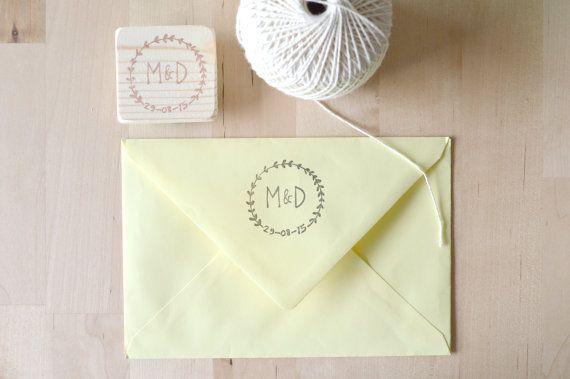 Custom Wedding Monogram Stamp Hand Carved Initials For Diy Invitation