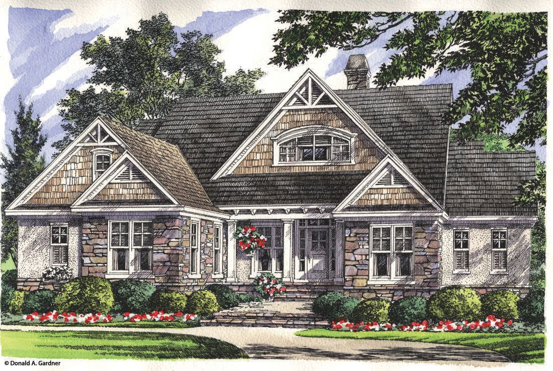 The Whitford House Plan by Donald A. Gardner Architects