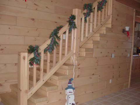 Log Railing & Stairs - Wood Workers Shoppe   Stairs ...