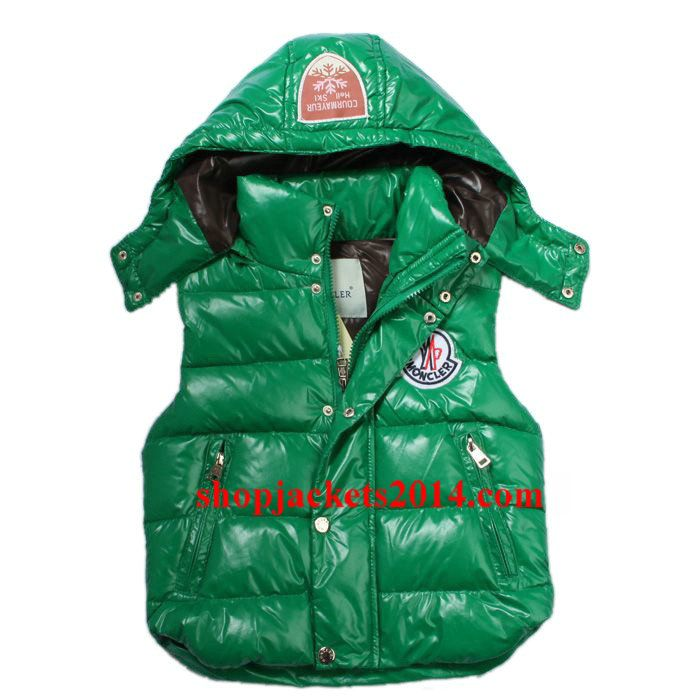 Moncler Outlet UK kid clairy down sleeveless vest green
