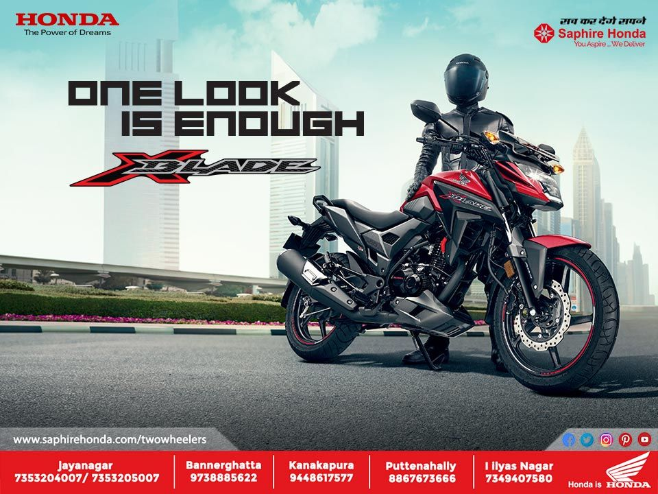The All New Honda X Blade Comes Equipped With Aerodynamic Design