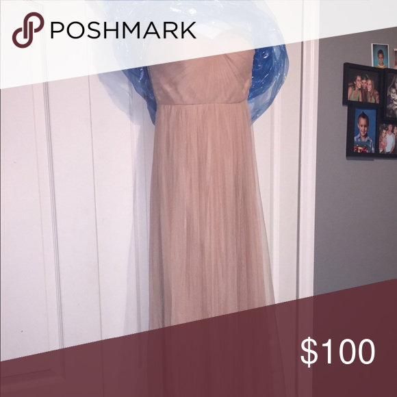 Saks Fifth Avenue Wedding Gowns: Long Dress Worn Once. Dry Cleaned. Size 4 From Saks. In