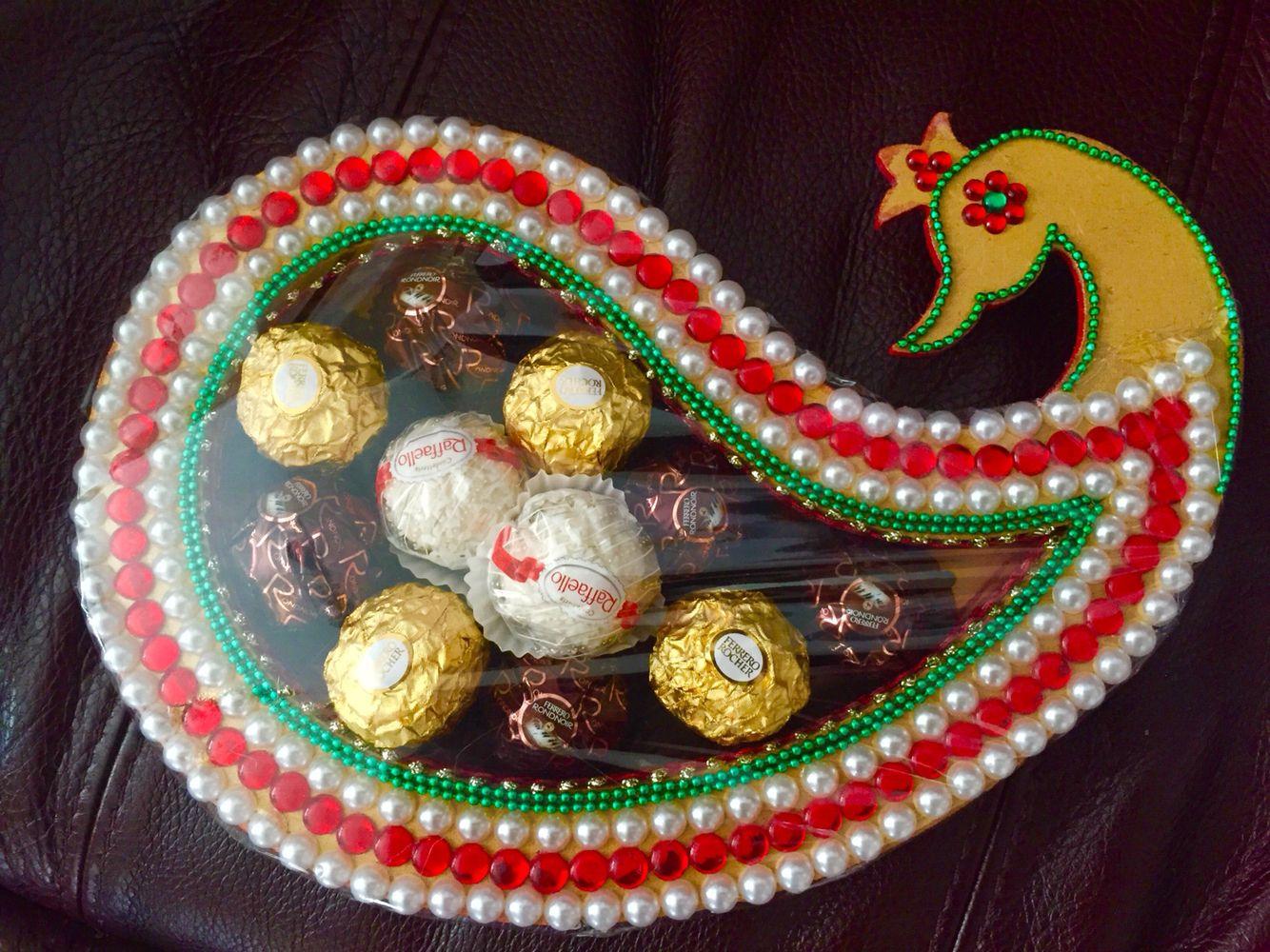 Indian Wedding Decor Chocolate Tray