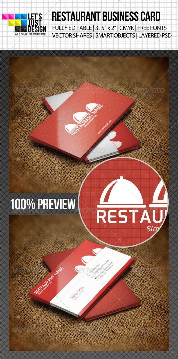Restaurant Business Card Business Cards Restaurants And Business
