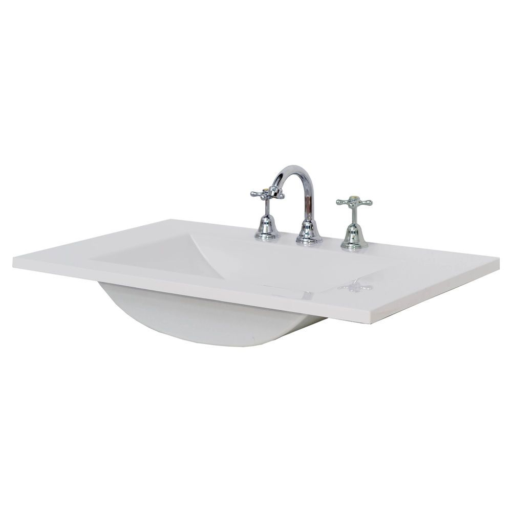 Cibo uber 1200 wall hung vanity from reece - Finlay Smith Low Profile 3 Hole Vanity Basin 750mm Masters Home Improvement 93