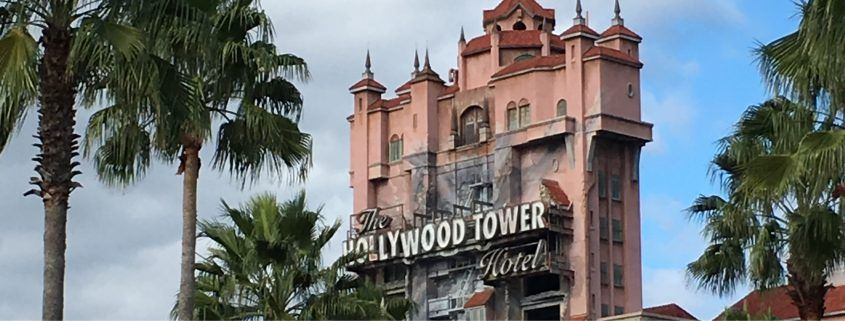 The Twilight Zone Tower Of Terror Is A Great Attraction To Ride Either Day Or Night And Is Based On A Haunted Hotel Tower Of Terror Twilight Zone Haunted Hotel