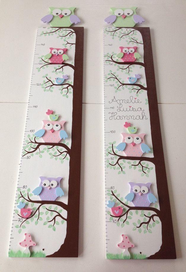 Kinder Messlatte Wachstumsmesser Messleiste aus Holz Kinderzimmer Deko