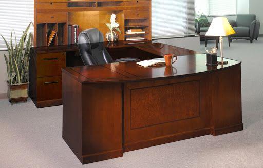 "SORRENTO SERIES VENEER EXECUTIVE ""U"" BOWFRONT/UNIVERSAL BRIDGE/PBF-DESK/FF-CREDENZA AVAILABLE IN BOURBON CHERRY|ESPRESSO  #computer #table #desk #office #furniture #privacy #workstation #ushape"