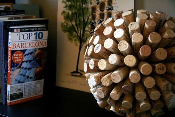 Ah!! Cork ball! Looks so graphic & cool. Love everything this would do to any kind of shelf.... Sidebar: It does take 240 (!!!) corks so... its 5:00 somewhere!