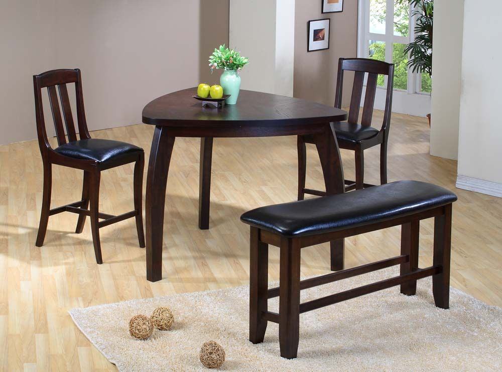 Choose Triangle Dining Table For Your Room Homes Innovator Bar Height Home Zone Furniture Ruang Makan Ruang Makanan