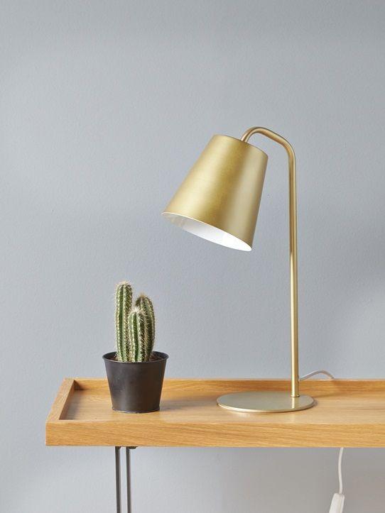Lampe A Poser Sur Un Bureau Ou Un Chevet Pour Une Deco Tendre Et Elegante Details Dim 26 X 15 X 43 Cm Ampo Lampe Metal Lamp