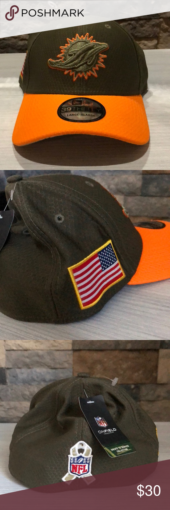 72e7dec7f2a92d Miami Dolphins Salute To Service Flexfit Cap Show support for the troops  while cheering on your favorite team in this official licensed 39Thirty  Salute to ...