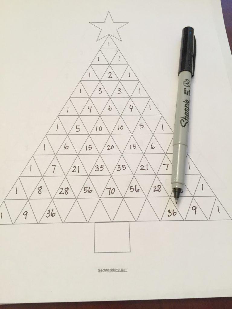 Pascal S Triangle Christmas Tree Math Pascal S Triangle Math Christmas Math