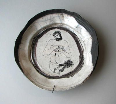 paper mache plates or bowls and put design or drawing Christ as the Man of Sorrows & paper mache plates or bowls and put design or drawing Christ as the ...