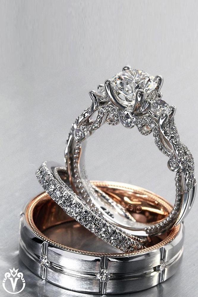 Art Deco Engagement Ring Peridot Unique Engagement Ring Wedding