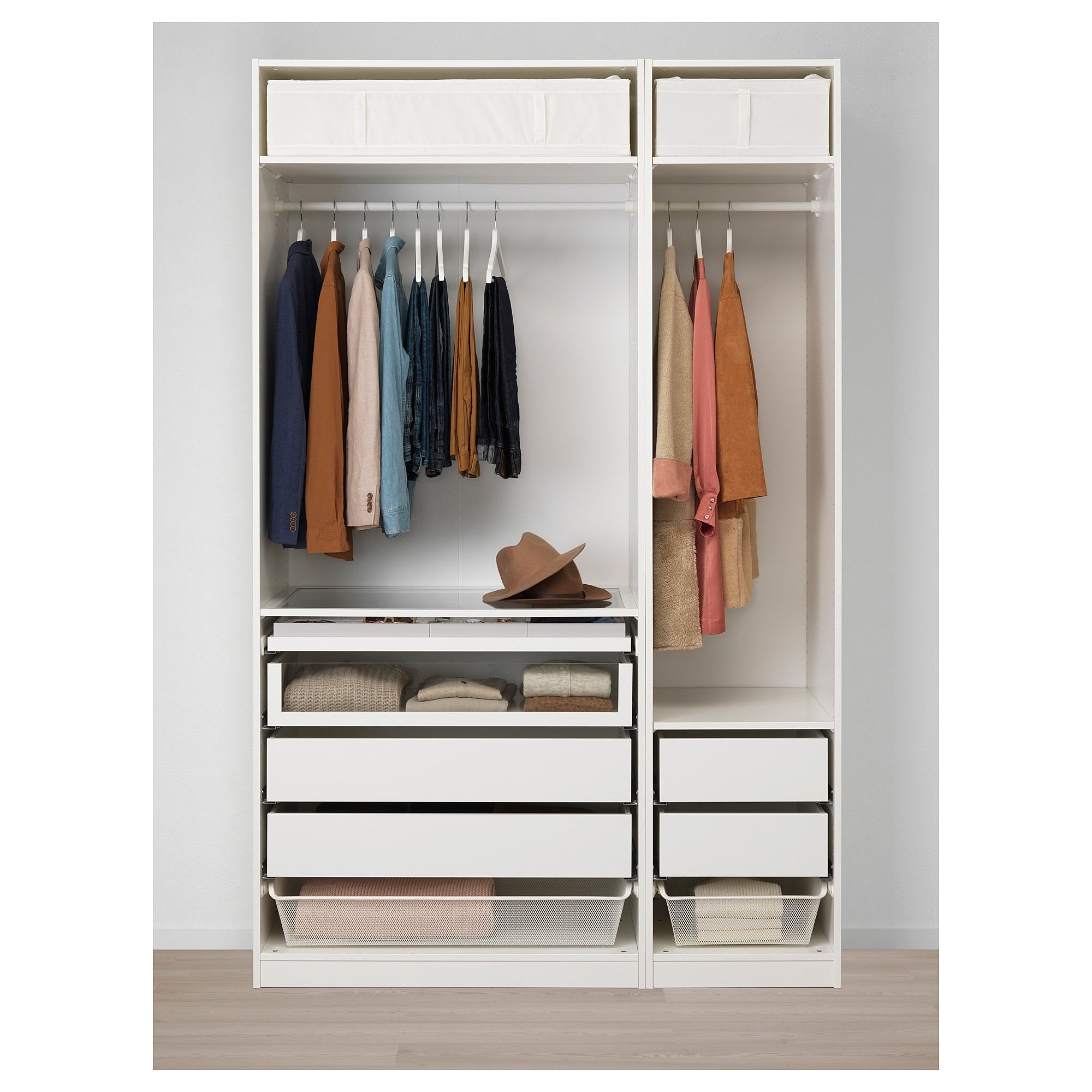 Pax Wardrobe White Flornes Dark Gray 59x23 5 8x93 1 8 Pax