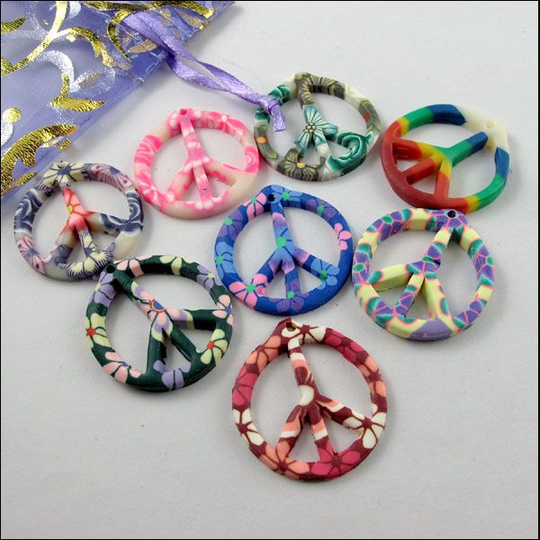 15pcs mixed polymer fimo clay peace sign charms pendants 29x31mm 15pcs mixed polymer fimo clay peace sign charms pendants 29x31mm e332 01 mozeypictures Image collections