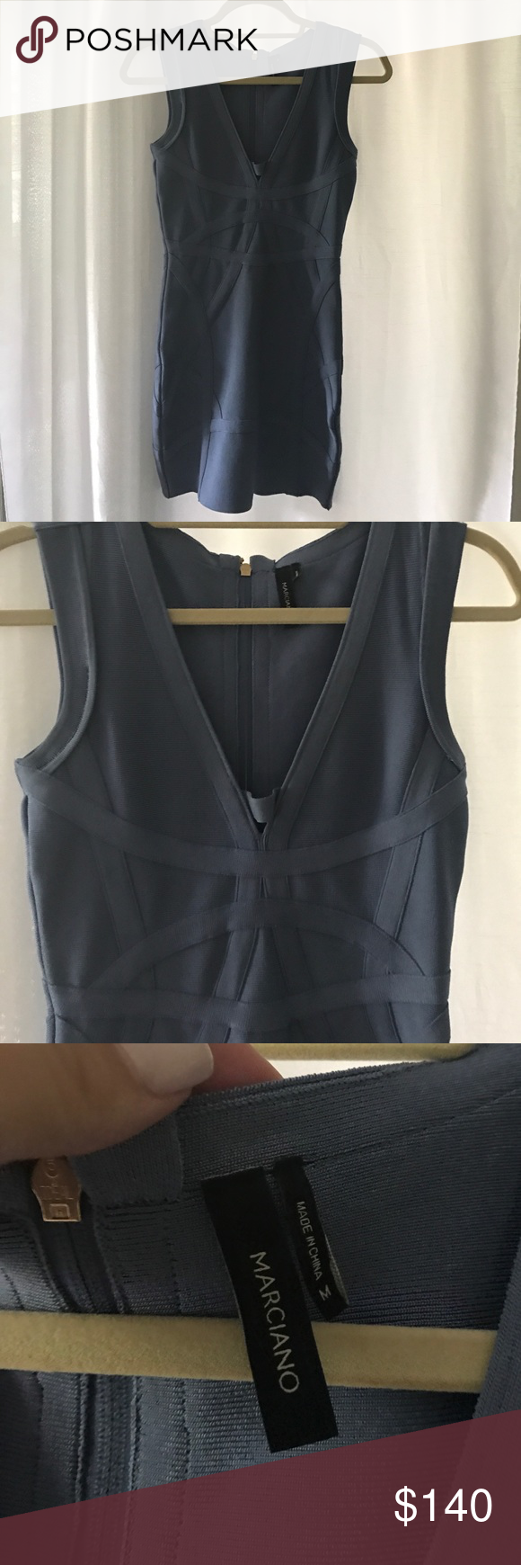 Marciano Bandage Dress Marciano classic bandage dress. Very high quality if you know what brand Marciano is. Only worn once for birthday dinner. Dry cleaned and ready to be taken home!! Marciano Dresses Mini