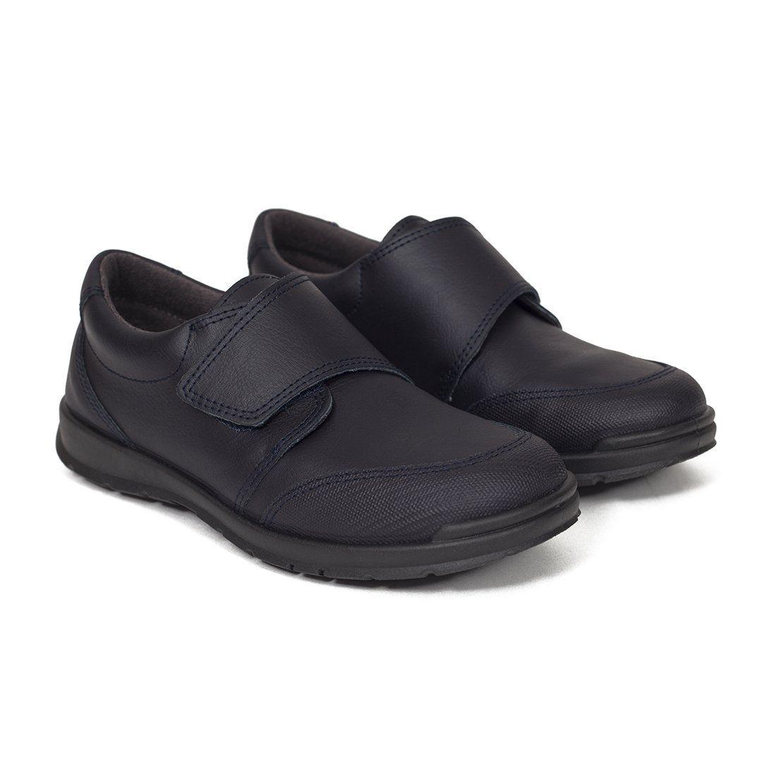 Zapatos Colegiales niños clásico de velcro en piel MEMORY