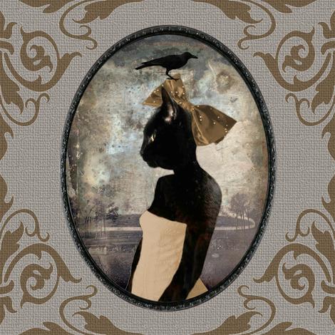 Cat Bird Seat fabric by curlycue on Spoonflower - custom fabric