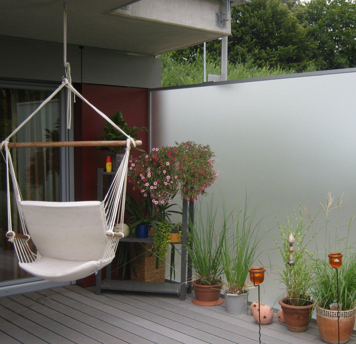 Glas Windschutz Fur Balkon Und Terrasse Oder Windschutzfange Ein