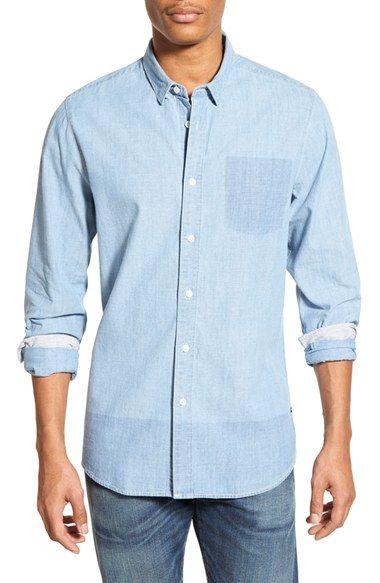 dc6234f6fe2a Volcom  Shadow  Trim Fit Denim Shirt   Products   Pinterest