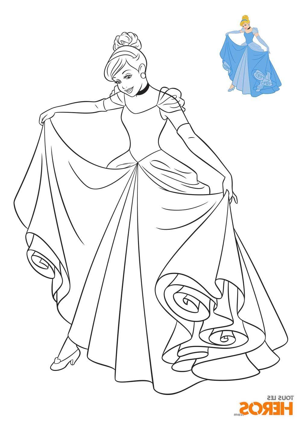 Coloriage Princesse Disney à imprimer en ligne en 2020 | Coloriage cendrillon, Coloriage disney ...