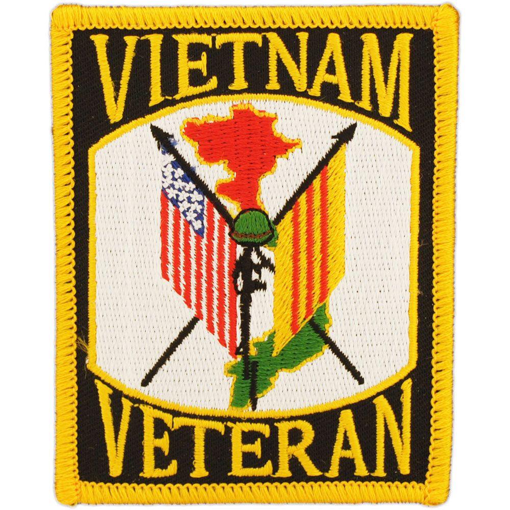 Vietnam Veteran Flags Patch Vietnam Vietnam Veterans