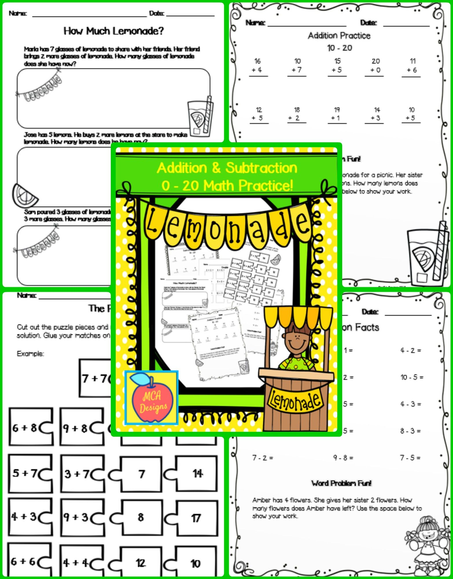 Addition Amp Subtraction Practice 0