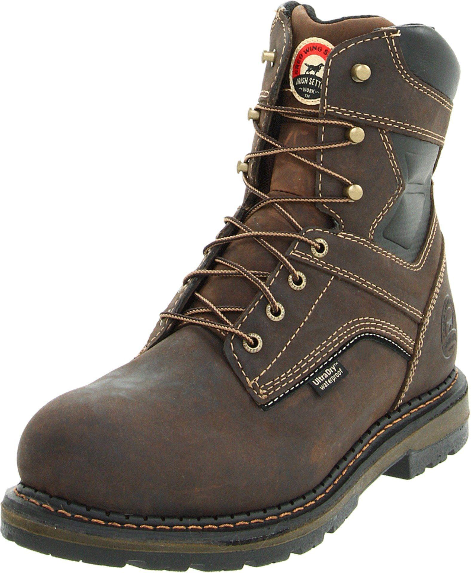 "Irish Setter Men's 83801 8"" Work Boot,Brown,8 D US (With"