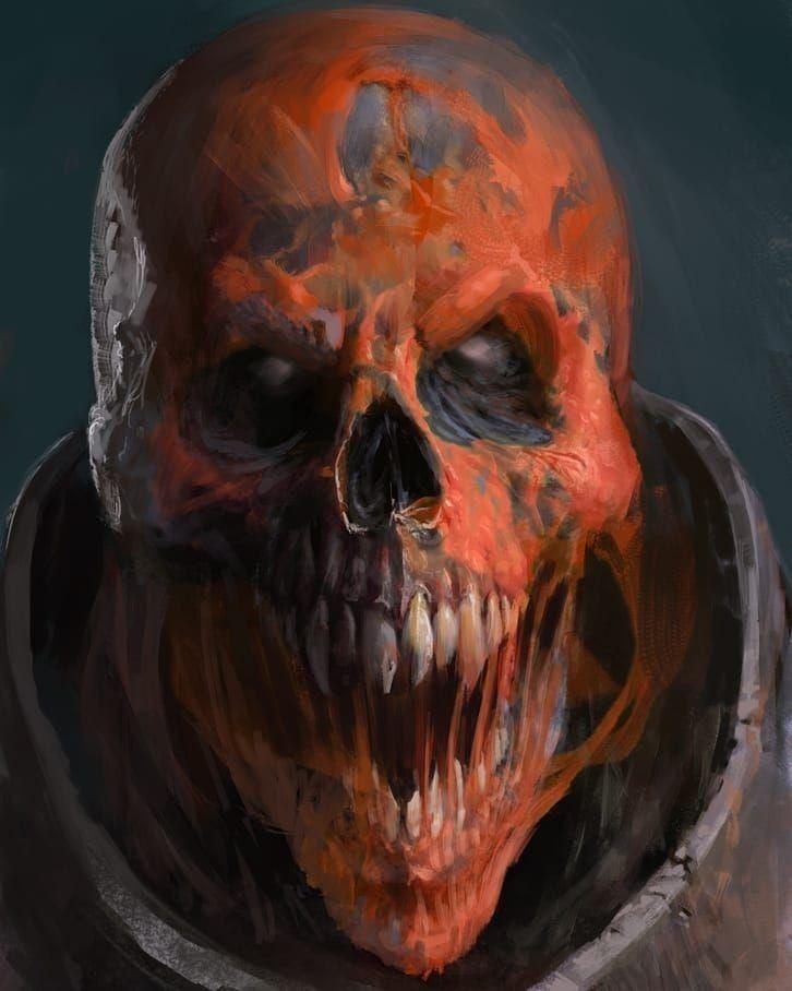 картинки черепа монстр
