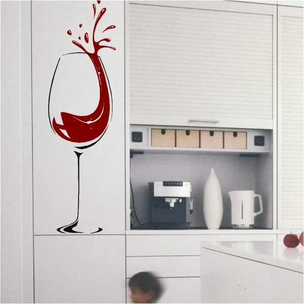 Wine Glass Splash 2  sc 1 st  Pinterest & Wine Glass Splash 2 | Wine! | Pinterest | Wall decal sticker Wall ...