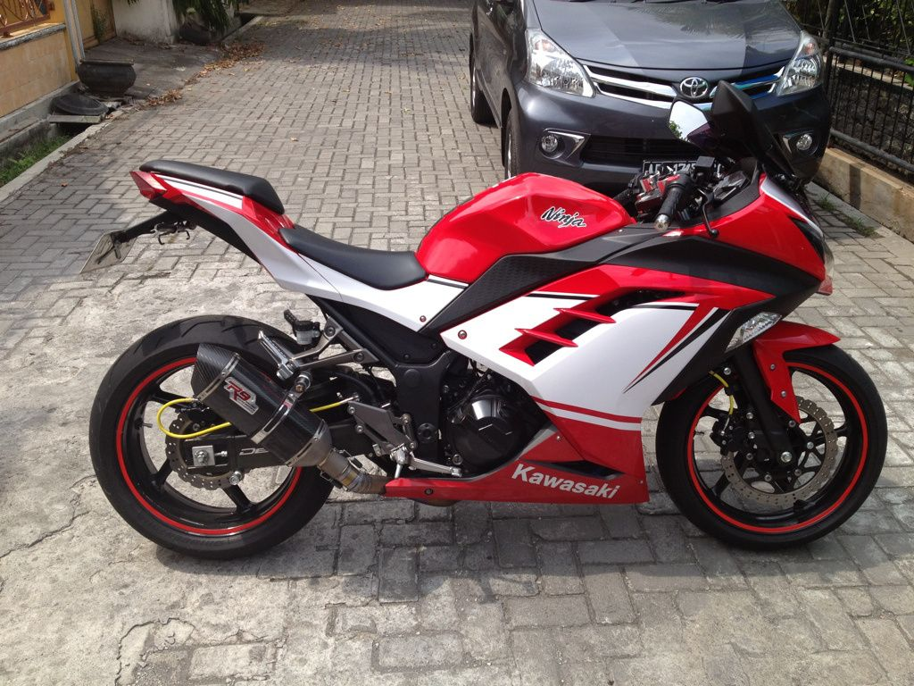 kawasaki ninja 250 fi merah putih simple modification | modifikasi