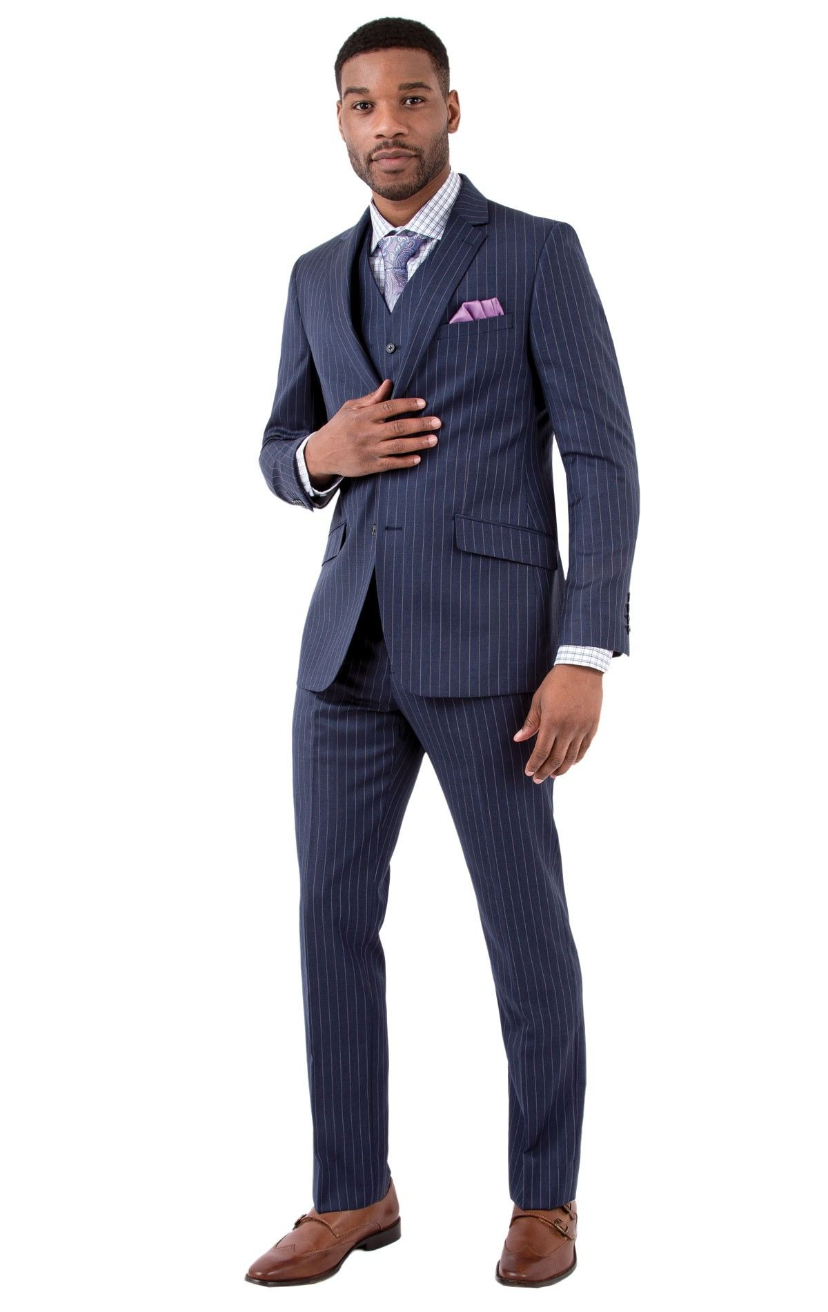 The Bachrach Slim Fit Suit features a slim cut throughout ...