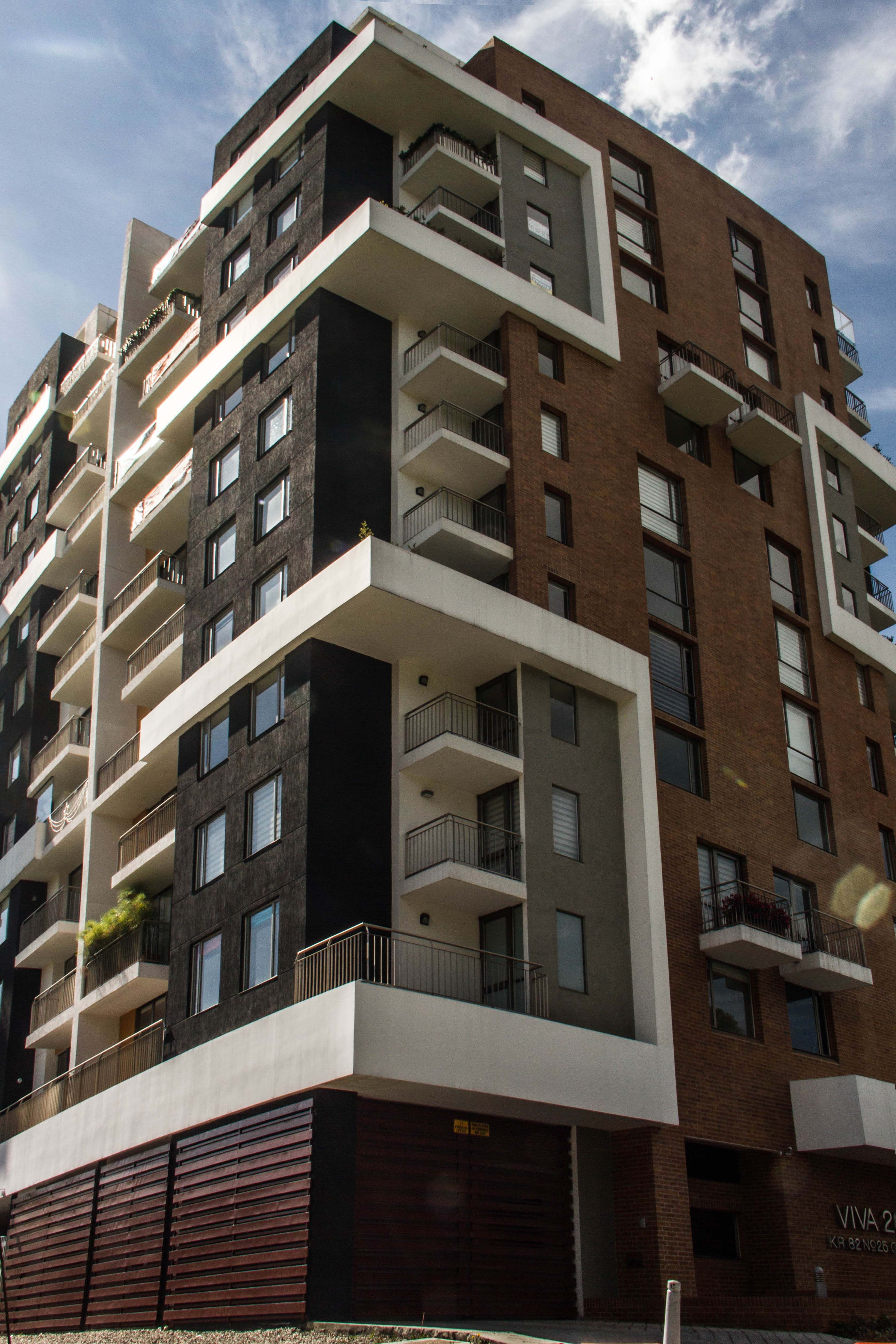 Corner View Tower 1 Viva 26 Bogota Colombia Modern Buildings Building Facade Brick Architecture