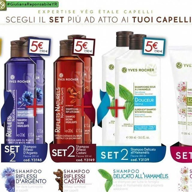 💚Scegli il #SET Adatto ai TUOI #Capelli 💚 SET 2 #Shampoo a SOLO ⚠ 5,00€ 100% Base di Origine #Vegetale. #CosmeticaVegetal #YvesRocherItalia #giulianaresponsabileyr